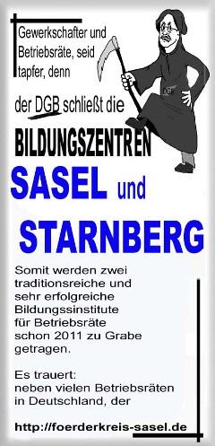 Sasel und Starnberg dürfen nicht sterben!